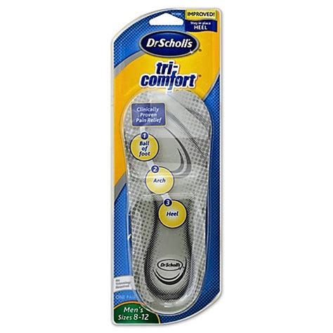 dr scholl s tri comfort orthotics dr scholl s 174 tri comfort 174 1 pair men s orthotics bed