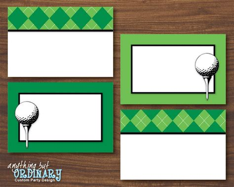 buffet table cards template golf buffet cards editable partee printable food