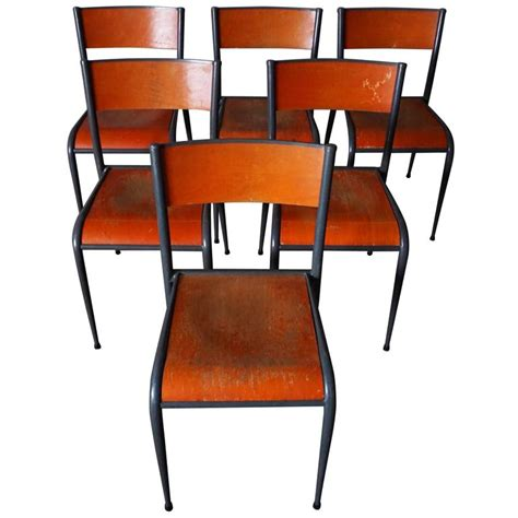 school dining room furniture set of six vintage school chairs at 1stdibs