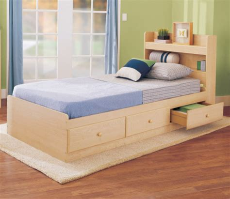 modern kids beds my space my place storage twin bed in maple modern
