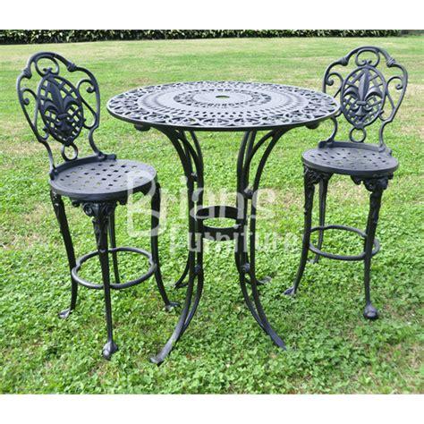 Fleur De Lis Patio Furniture 3 Pc Fleur De Lis Pub Set Outdoor Furniture Cast Aluminum