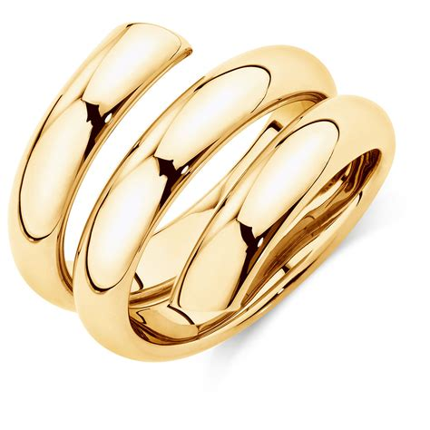 Ringe Gold by Spiral Ring In 10kt Yellow Gold