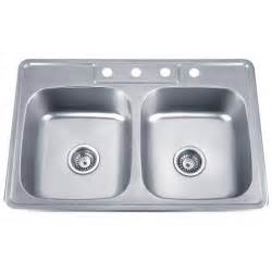 24 stainless steel drop in single bowl kitchen sink
