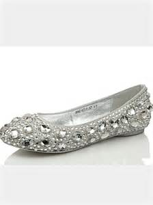 silver dress flats for wedding silver flat shoes bridal shoes on sale on