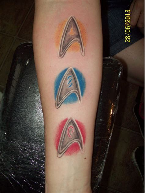 star trek tattoo amazing galaxy trek insignia