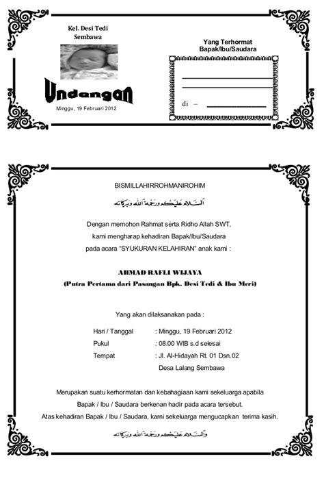 undangan syukuran anak