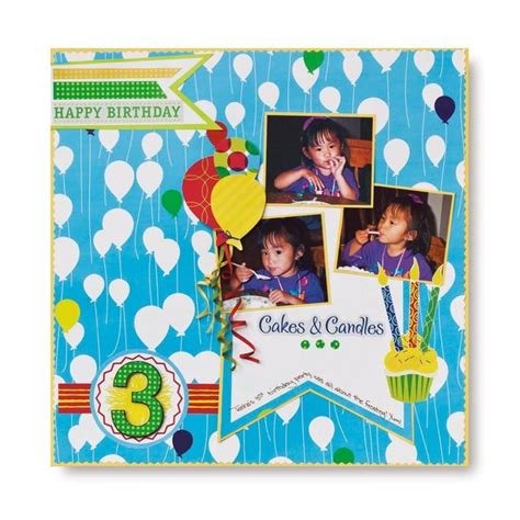 scrapbook layout birthday 35 best images about birthday scrapbook layouts on