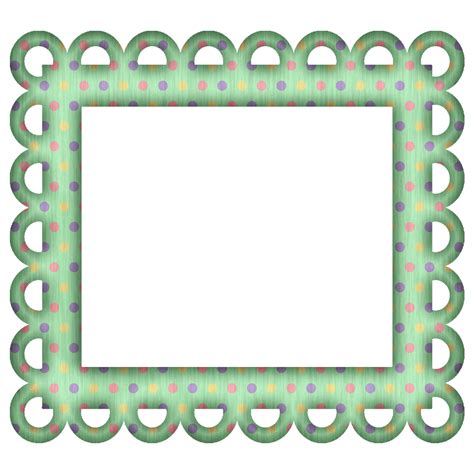 Frame Scrapbook picture frames for scrapbooking free free green polka