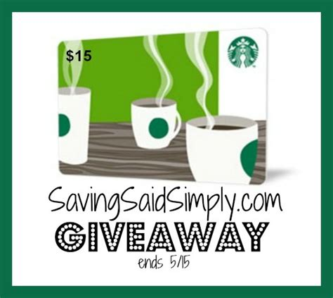 15 Starbucks Gift Card - starbucks gift card giveaway 15 value