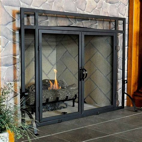 Fireplace Sceens by Vintage Fireplace Screens With Doors For Family Room