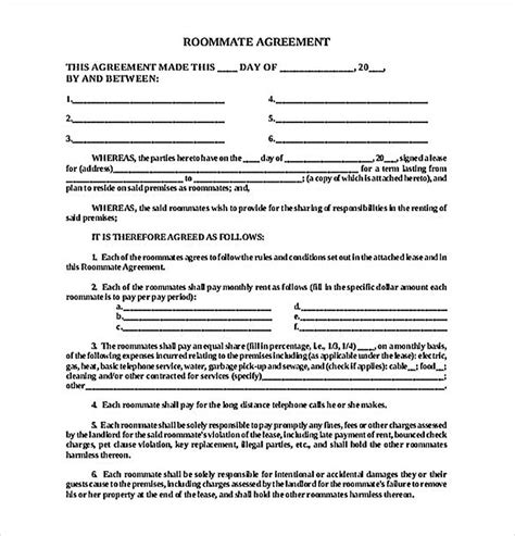 4 lease contract templates for restaurant cafe bakery pdf