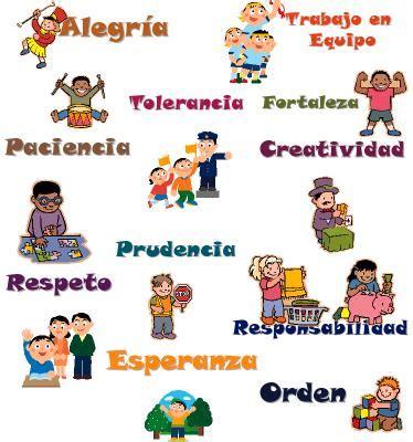 imagenes que representen los valores morales meses con valores para primaria material educativo