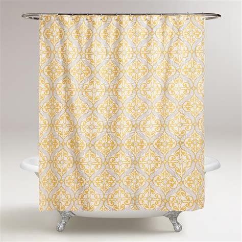 lemon curtains lemon fraiche ogee marjorie shower curtain world market
