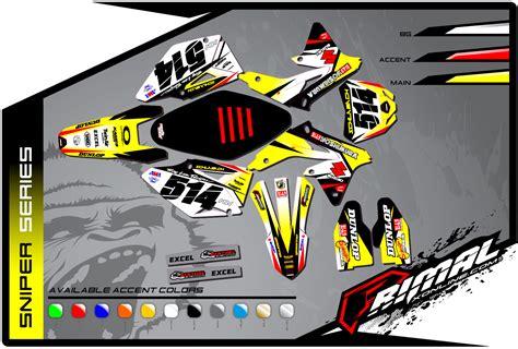 T262 Rm Replica Sticker sniper suzuki primal x motorsports motocross graphics atv graphics backgrounds vehicle