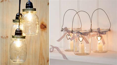 decorar botellas y tarros de cristal manualidades para decorar tus tarros de cristal