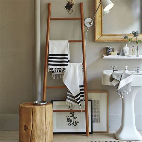 Ladder Bathroom Storage Beautiful Bathroom Towel Display And Arrangement Ideas