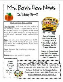 kindergarten classroom newsletter template best photos of kindergarten newsletter templates word doc