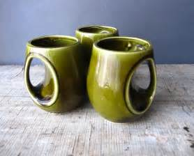 Unusual Mugs Unique Ceramic Mugs Japan Green Glazed
