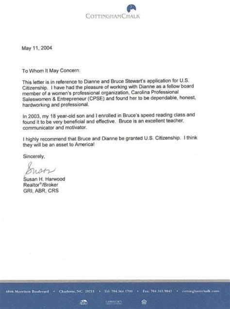 Letter Of Support For Immigration Judge Cover Letter To A Friend For A