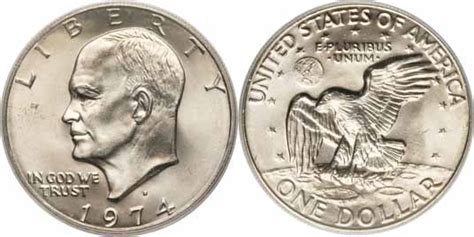 specifications eisenhower silver dollars 1974 d eisenhower dollar values facts