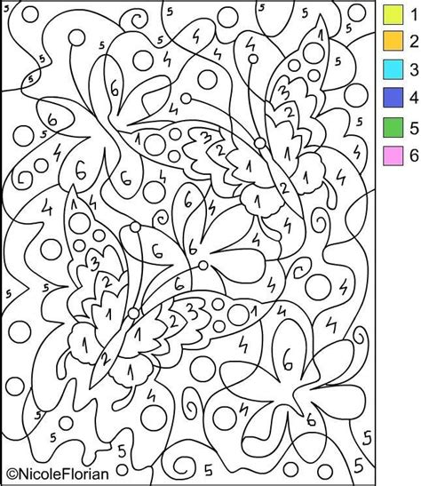 free printable color by number printable color by number for adults color by