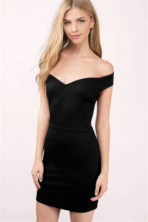Dres Offshoulder black bodycon dress shoulder dress 68 00