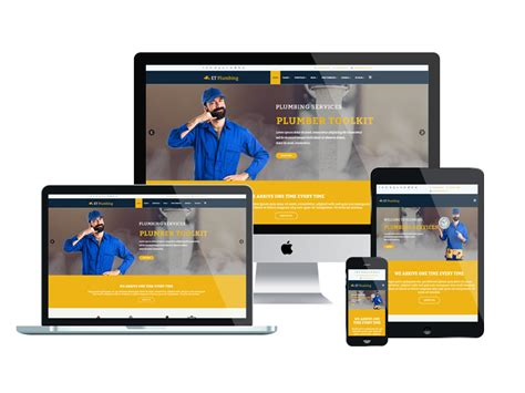 Free Responsive Templates by Et Plumbing Free Responsive Plumbing Website Template