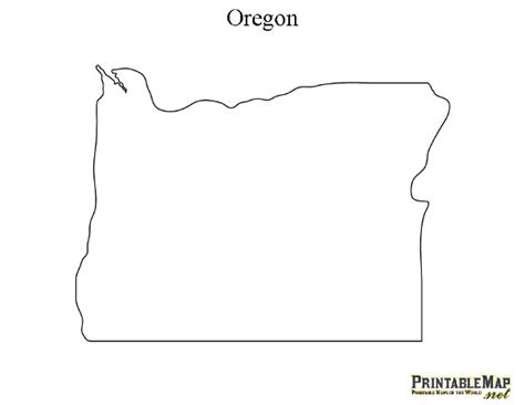 map of oregon outline printable map of oregon state map of oregon
