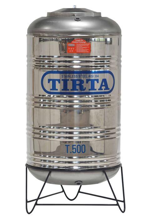 Tangki Air Stainless Steel Tirta T 1000 Water Tank Tandon Toren Air product tangki air stainless steel tirta 500 pakai kaki pk