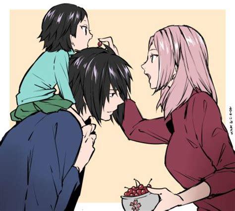 sarada sasuke uchiha and sakura family uchiha family uchiha sarada uchiha sasuke by yuno chan