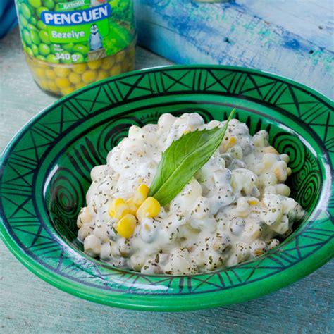 Penguen Yemek Tarifleri Misirli Bezelyeli Makarna Salatasi | penguen yemek tarifleri mısırlı bezelyeli makarna salatası