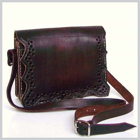 Handmade Leather Purse - leather messenger bag handmade leather bags handmade