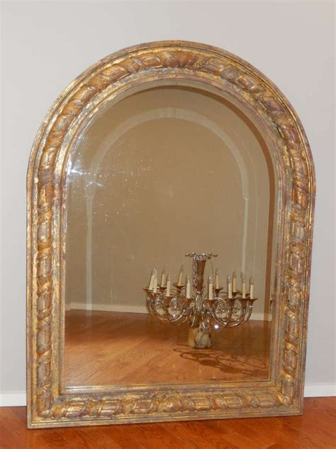 large arched giltwood wall or floor mirror at 1stdibs
