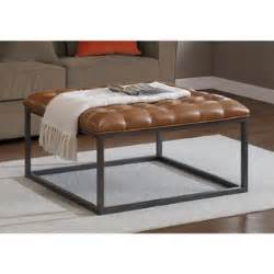 Overstock Ottoman Coffee Table Healy Saddle Brown Leather Tufted Ottoman Overstock Shopping Great Deals On Ottomans