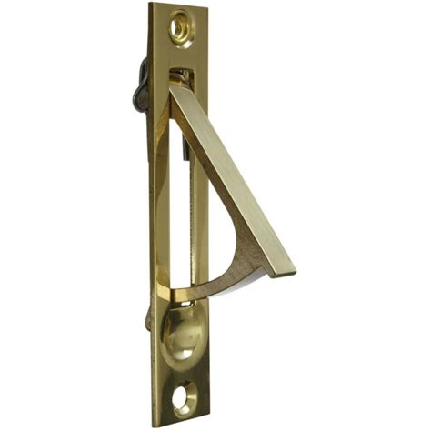 Sliding Closet Door Pull Shop Stanley National Hardware 2 In Polished Brass Sliding Closet Door Pull At Lowes