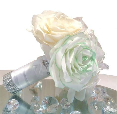 Wedding Bouquet Throw by Mint Green Wedding Bouquet Handmade Coffee Filter Bouquet