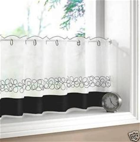 black and white cafe curtains black white kitchen cafe curtains 60 quot x 24 quot co uk