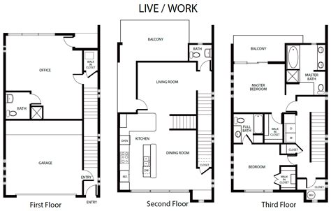live work floor plans floor plans farmer avenue lofts