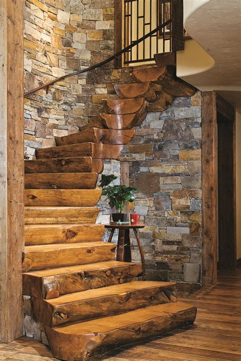 cabin homes best 25 rustic stairs ideas on basement steps