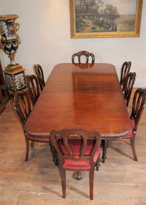 chippendale table dining chairs set antique