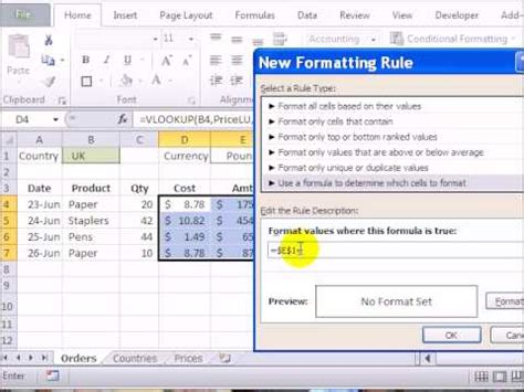 formula in excel format currency conditional formatting currency symbols in excel 2010