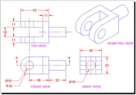 tutorial autocad isometric drawing orthographic projection drawing a two dimensional