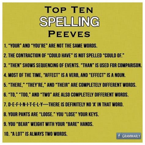 top pet peeves 234 best images about grammar punctuation on pinterest