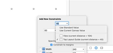 xcode top layout guide not showing how can i use autolayout with vertical spacing to subvi