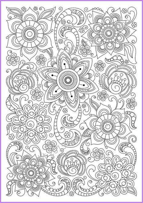 zendoodle coloring pages coloring page pdf adults and children printable doodle