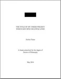 template for phd thesis title page texblog