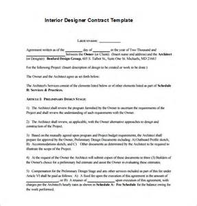 fashion designer contract template 6 interior designer contract templates free word pdf