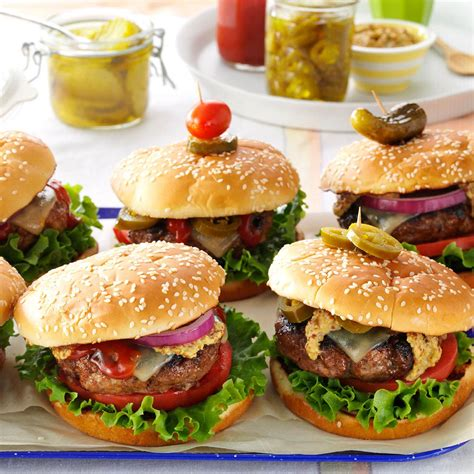 backyard burger recipe southwestern backyard burgers recipe taste of home