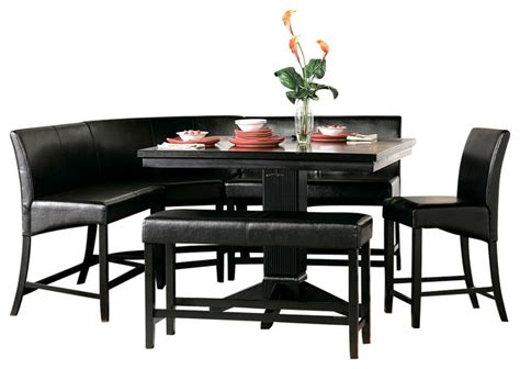 All Black Dining Room Set Homelegance Papario 6 Counter Dining Room Set In