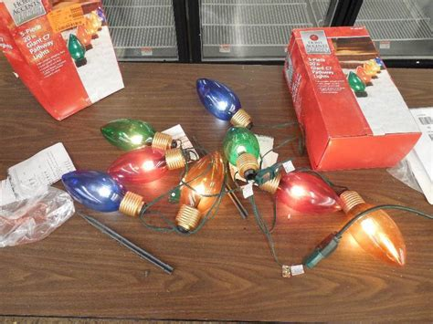 home accents 20 in gaint c7 pathway lights 3 sets 20 in c7 multi color pathway lights set of 4 decorations